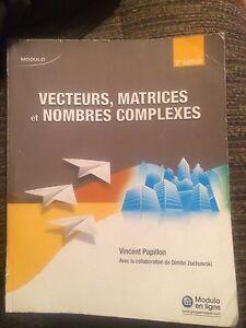 Vecteurs,matrices et nombres complexes
