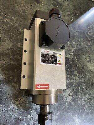 Square Air Cooled Spindle Motor 2.2kw Er20 24000rpm 220v 6a 400hz Cnc Engravi...