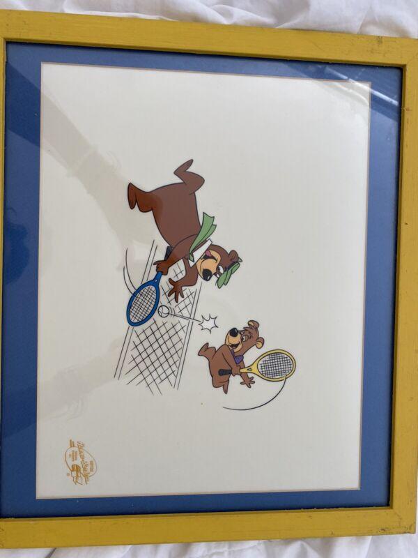 "HANNA BARBERA LIMITED EDITION ORIGINAL SERIGRAPH CEL  ""Yogi Bear Tennis"""
