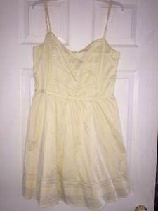 light yellow dress ladies summer dress spaghetti strap short
