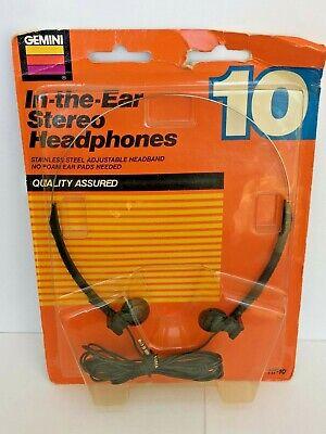 Vintage AM/FM Stereo Radio 1989 Gemini AS12 Handheld Headphones NOS Deadstock - Gemini Stereo Headphone