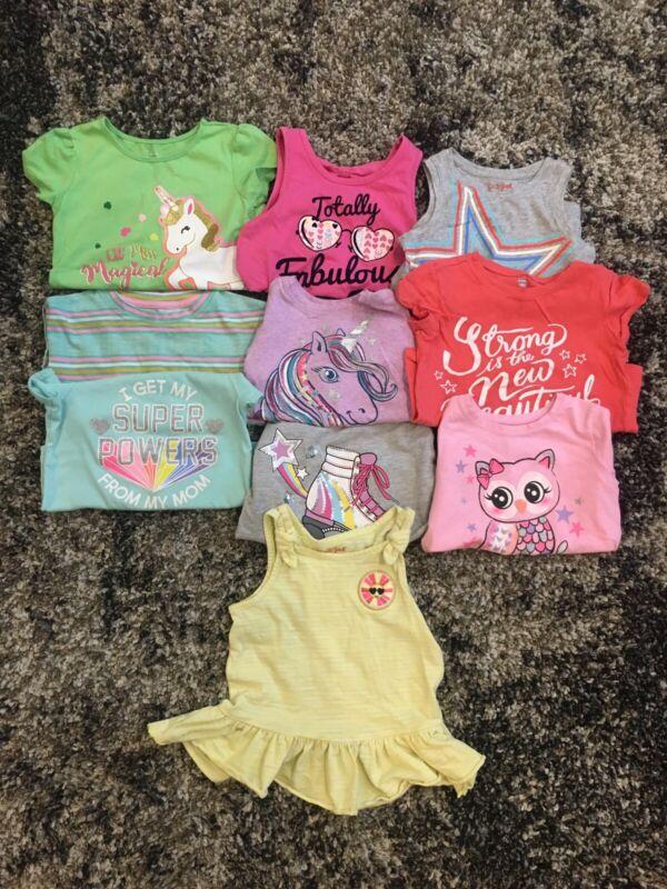Lot Of 10 4T Toddler Girls Summer Shirts