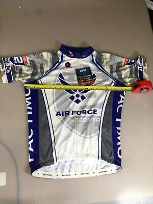 Pactimo Continental Air Force Mens Cycling Jersey Medium M  (6910-49) Air Force Cycling Jersey