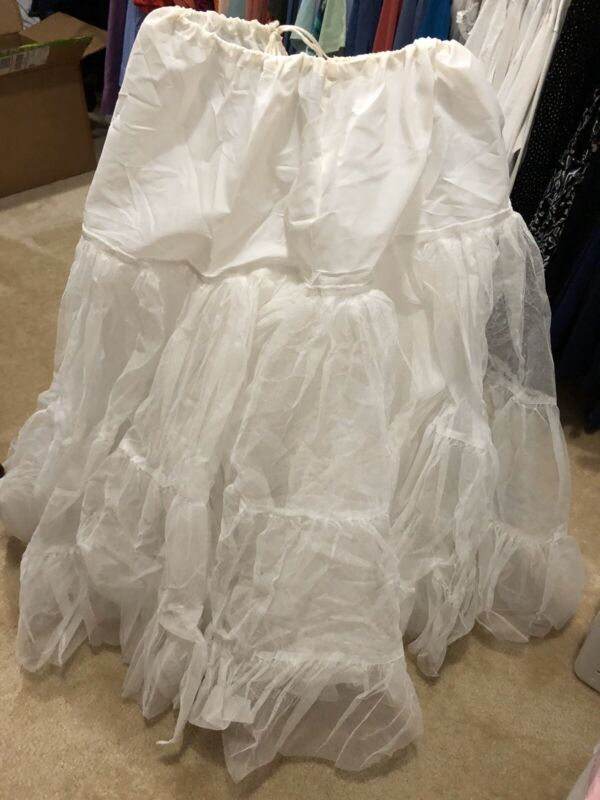 Vintage Draw String Crinoline Layered Wedding Skirt Slip Costume