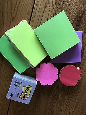 Colored Index Cards Post It Notes Set