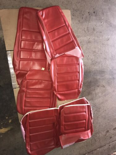 71 72 73 Mustang sportsroof  Fastback Upholstery Vermillion Red 1971 1972 1973