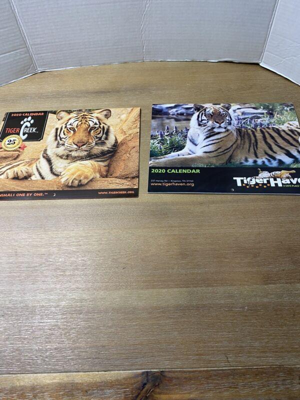 Set of 2 Wildlife Tiger Calendars Tiger Creek 2020 Tiger Haven 2020