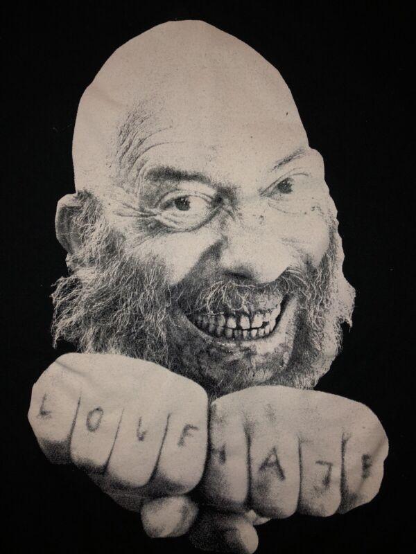 Sid Haig Shirt Size M Devil's Rejects Captain Spaulding Love Hate No Tag