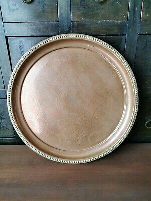 Joseph Sankey & Son Solid Copper Tray - Arts & Crafts Copper Charger