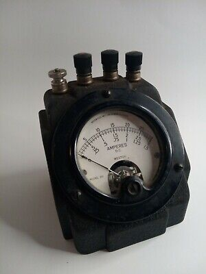Amperes D.c. Weston Model 301 0-30 Electric Inst. Corp. Vintage Antique
