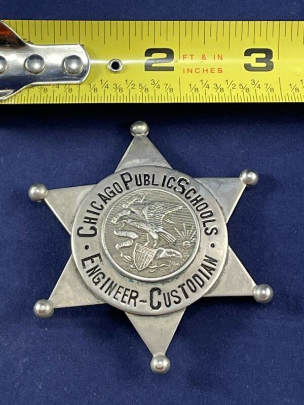 Chicago Public School Engineer Custodian Badge Star American Seal & Stamp Co.