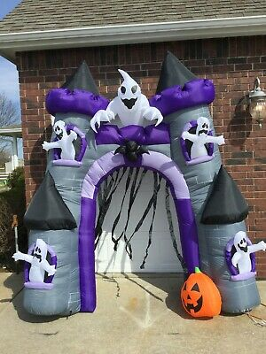 9ft Gemmy Airblown Inflatable Prototype Halloween Ghost Arch #55991