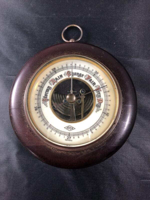 VINTAGE German Barometer in Wood Framing