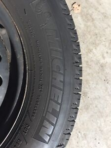 4 Michelin X Ice winter tires with steel rims