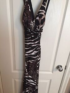 Open back Dress with animal print design