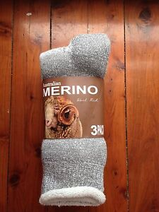 3 PAIRS HEAVY DUTY AUSTRALIAN MERINO WOOL WORK SOCKS 6-11