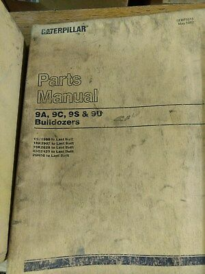 Cat Caterpillar 9a 9c 9s 9u Bulldozers Parts Manual
