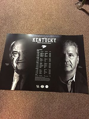 University Of Kentucky 2016 17 Mens Basketball Poster Rupp Calipari