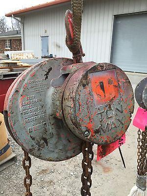 Cm 1 Ton Manual Chain Fall Hoist 10 Lift Chain