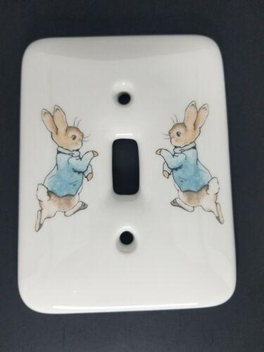 Vintage Wedgewood Peter Rabbit Porcelain Light Switch 1993 NEW