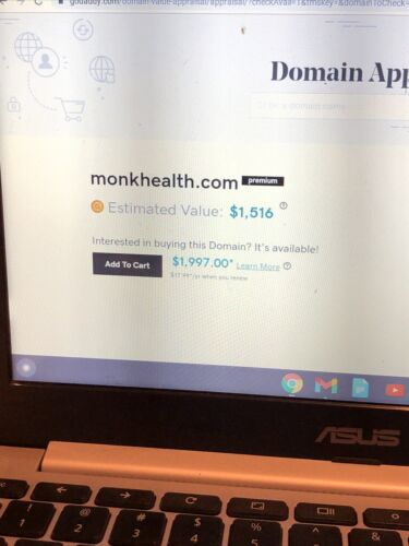 Monkhealth.com - $500.00