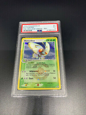 Pokemon Butterfree Refractor Holo PSA 5 2/112 Ex Fire Red Leaf Green