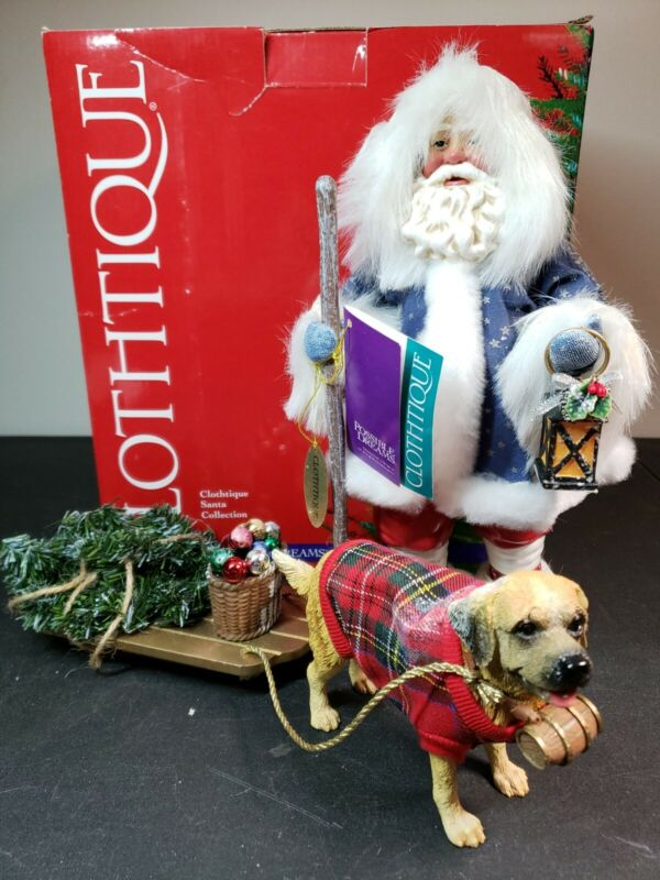 Possible Dreams Clothtique Santa Bring Home The Tree Dog Sled