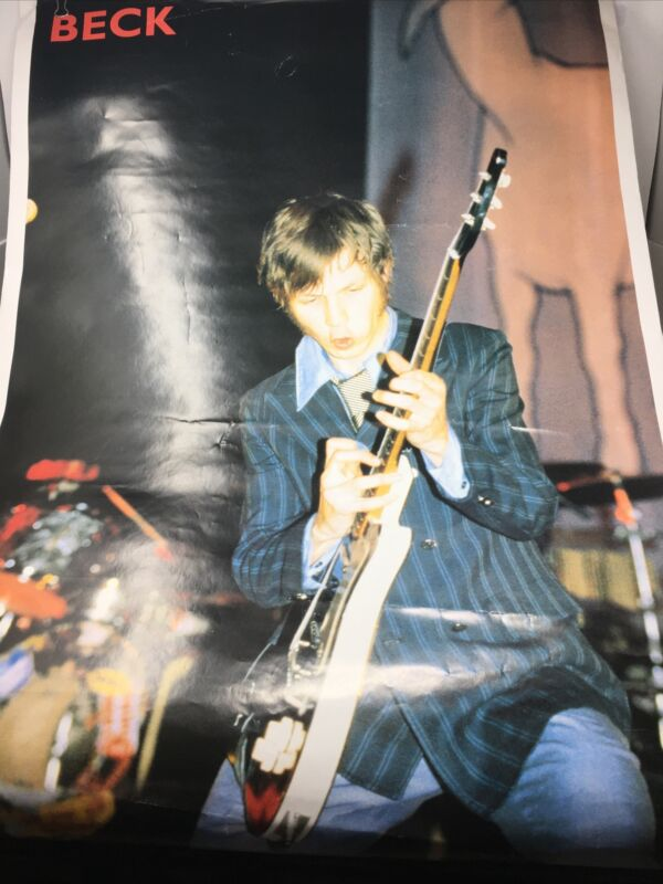 BECK -POSTER - 1990s...WITH GUITAR- RARE & ViNTAGE LPO540GB POSTERS UK