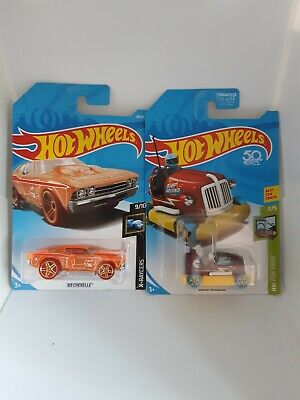 HOT WHEELS Treasure Hunt '69 CHEVELLE X-raycers Bump Around HW Fun Park Lot of 2
