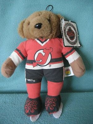 Vintage New Jersey Devils Team Ice Bear - Plush Toy - Official NHL Hockey 1994