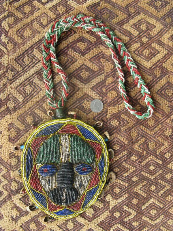 "Vintage Yoruba Eshu ""Odigba Ifa"" Beaded Divination Necklace Nigeria"