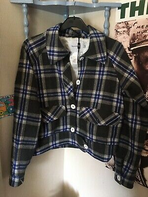 House of Sunny checked trucker jacket size 14