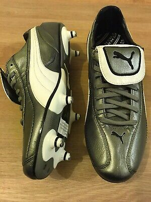 Puma King Football Boots Grey/white/black Uk 8 Never Worn No Box