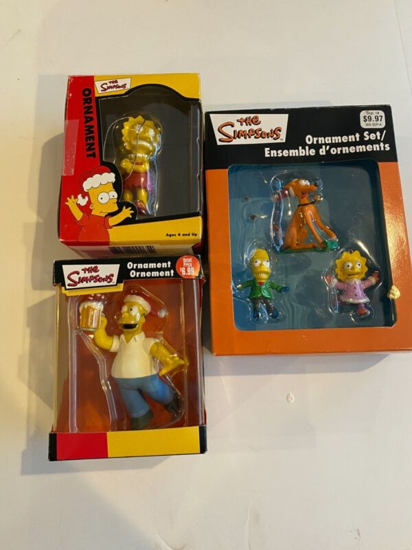 The Simpsons Holiday Christmas Ornament Lot of 3