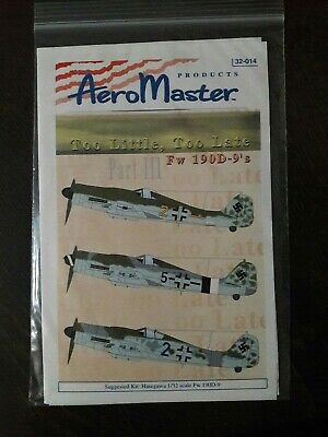 AeroMaster decals 32-014 1/32 Scale Too little Too late Fw 190D-9''s Part III