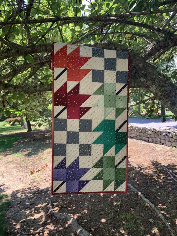 Handmade Quilted Fall Leaves Table Runner Table Topper New Quilt