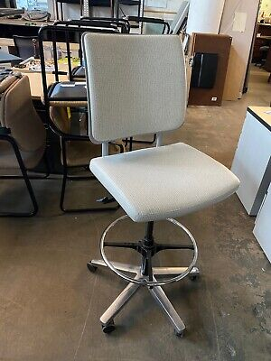 Drafting Chairstool By Harter Office Furniture W Gray Color Vinyl