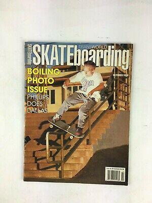 October 1990 Transworld Skateboarding Magazine Boiling PhotoIssue PhillipsDallas