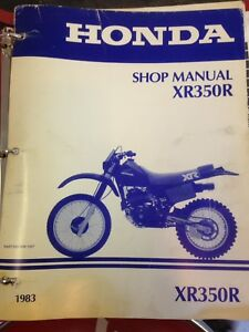 1983 Honda XR350 Service Manual