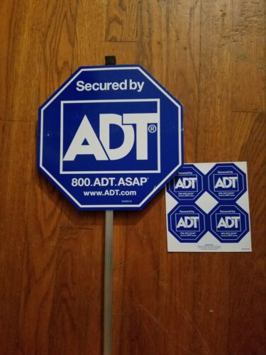 NEW ADT SECURTY YARD SIGN AND 4 FREE STICKERS WATERPROOF