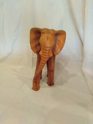 Large carved teak elephant