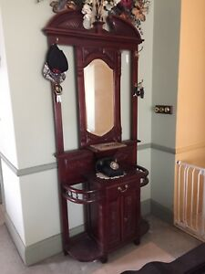 OLD SOLID MAHOGANY HALL STAND Pitt Town Hawkesbury Area Preview