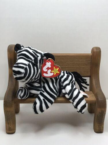 TY Beanie Baby Ziggy The Zebra With Style # Tag Retired   DO