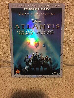 Atlantis The Lost Empire/Milo's Return Blu Ray DVD Disney With Slip Cover