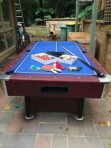 Pool table with table tennis and air hockey Emerald Cardinia Area Preview