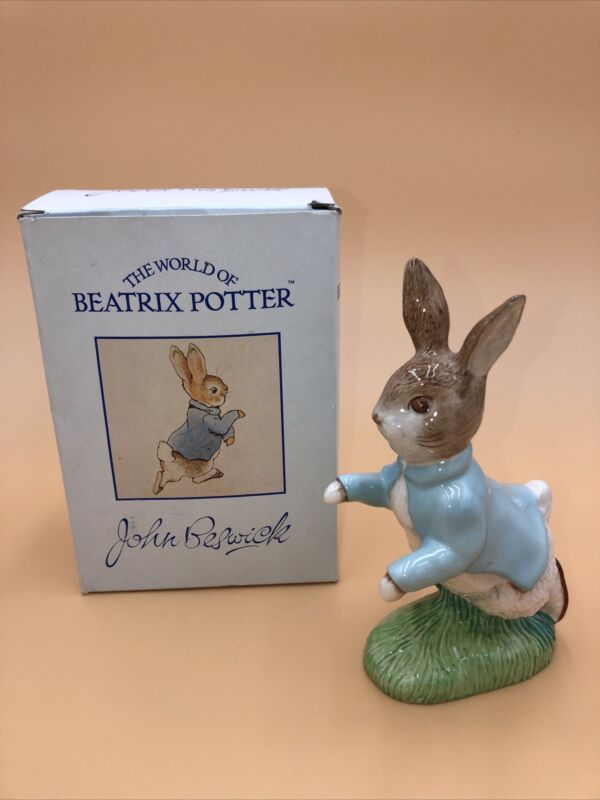 VINTAGE BESWICK BEATRIX POTTER PETER RABBIT FIGURINE ENGLAND F WARNE & CO LTD