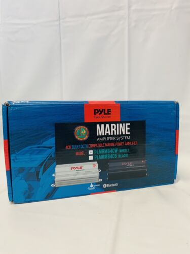 Pyle PLMRMB4CW Bluetooth Marine Amplifier Kit, 4-Ch.