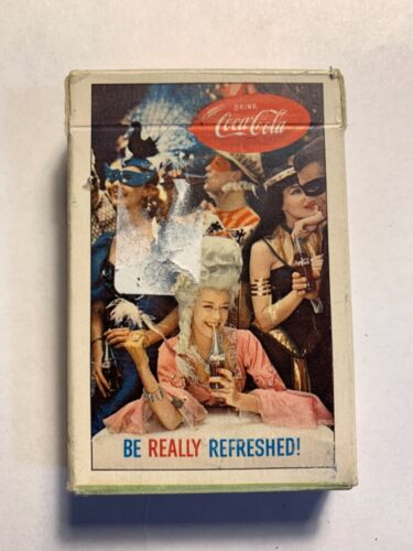 Coca Cola Playing Cards Be Really Refreshed Masquerade Sign of good taste