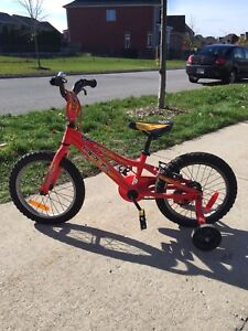 Opus scout bicycle with training wheels