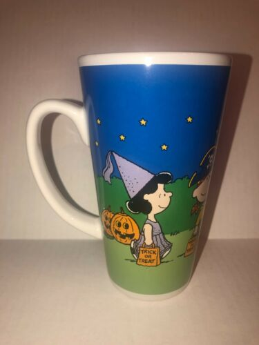 Gibson Peanuts Charlie Brown Lucy Linus Sally HALLOWEEN MUG Pumpkin Trick/Treat